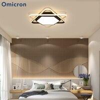 Omicron черный белый светодио дный светодиодный простой потолочный светильник шестигранный акриловый металлический корпус шестигранный свет