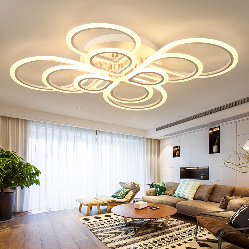Circular Dining Room: Circular Acrylic LED Ceiling Lights Home Living Room