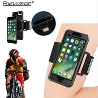 EDWO New For Apple iphone 5s SE 6s 7 plus Sport Arm Band Silicone Cover Case Reflective Safe Outdoor Running Arm Belt Phone Bag
