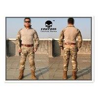 Kampfuniform Emerson tactical BDU Airsoft uniform Gen2 Combat Shirt & Hosen mit pads A-tacs EM6912