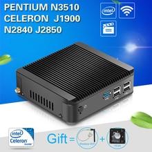 Fanless Mini PC Compact Desktop Computer Intel Celeron J1900 CPU HTPC TV Box Gaming PC Thin