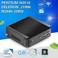 Fanless Mini PC Compact Desktop Computer Intel Celeron J1900 CPU HTPC TV Box Gaming PC Thin Client 300M WiFi Windows Linux