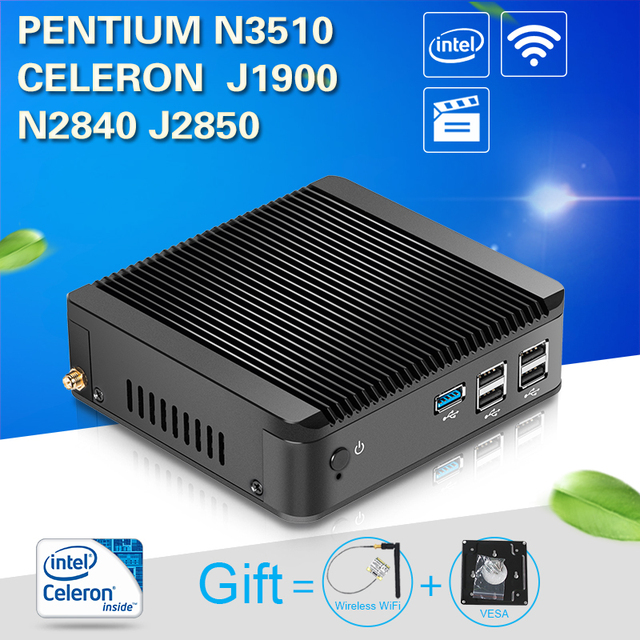 Xcy Mini Pc Desktop Computer Office Mini Computer Celeron J1850