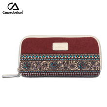 2016 Brand new womens change coin purse wallet clutch holder vintage floral cotton canvas female small purses phone pockets