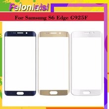10Pcs/lot For Samsung Galaxy S6 edge G925 SM-G925V SM-G925P G925F G9250 Touch Screen Front Glass Panel TouchScreen Outer Lens цена 2017