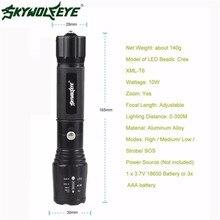 skywolfeye 5000LM G700 Tactical LED 18650 Flashlight X800 Zoom Super Bright Military Light Lamp L61216 drop