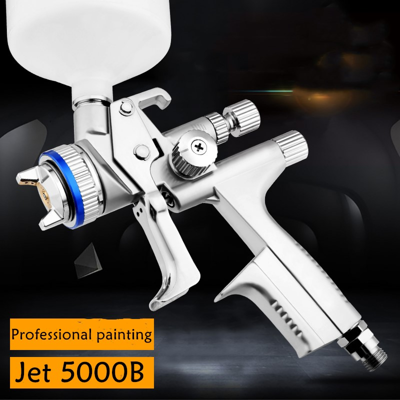 2018 Wholesale and retail Jet 5000B air spray gun Gravity spray gun with 1.3mm nozzle RP pneumatic spray gun car spray paint gun wlxy wl 010 mini cute aluminum storage can blue