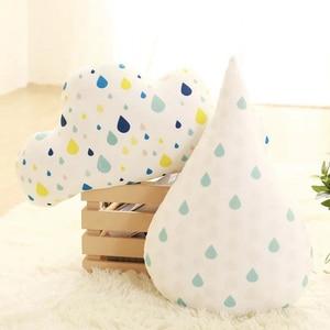 Decorative Pillows Cartoon Cushion Simple Clouds Drop Cute Kids Pillows Sleep Toys Stuffed Plush Dolls Gifts For Kids Baby Room