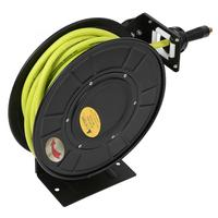 Metal Air Compressor Hose Reel Inlet Interface 15m Retractable with European Quick Interface