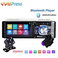 AMPrime 1 din Car Radio 4 HD MP5 Multimedia USB AUX FM Radio Autoradio Bluetooth Remote control Player with Rear View Camera