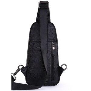 Image 4 - حقيبة كتف مفرد للرجال ذات جودة عالية مصنوعة من جلد البقر حقيبة ظهر بحمالة رافعة