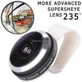 Universal Super Fisheye 235 Detachable Clip Fish eye Lens Camera lente do peixe for iPhone 4S 5S 5C 6 Samsung S3 S4 S5 APL-FE235