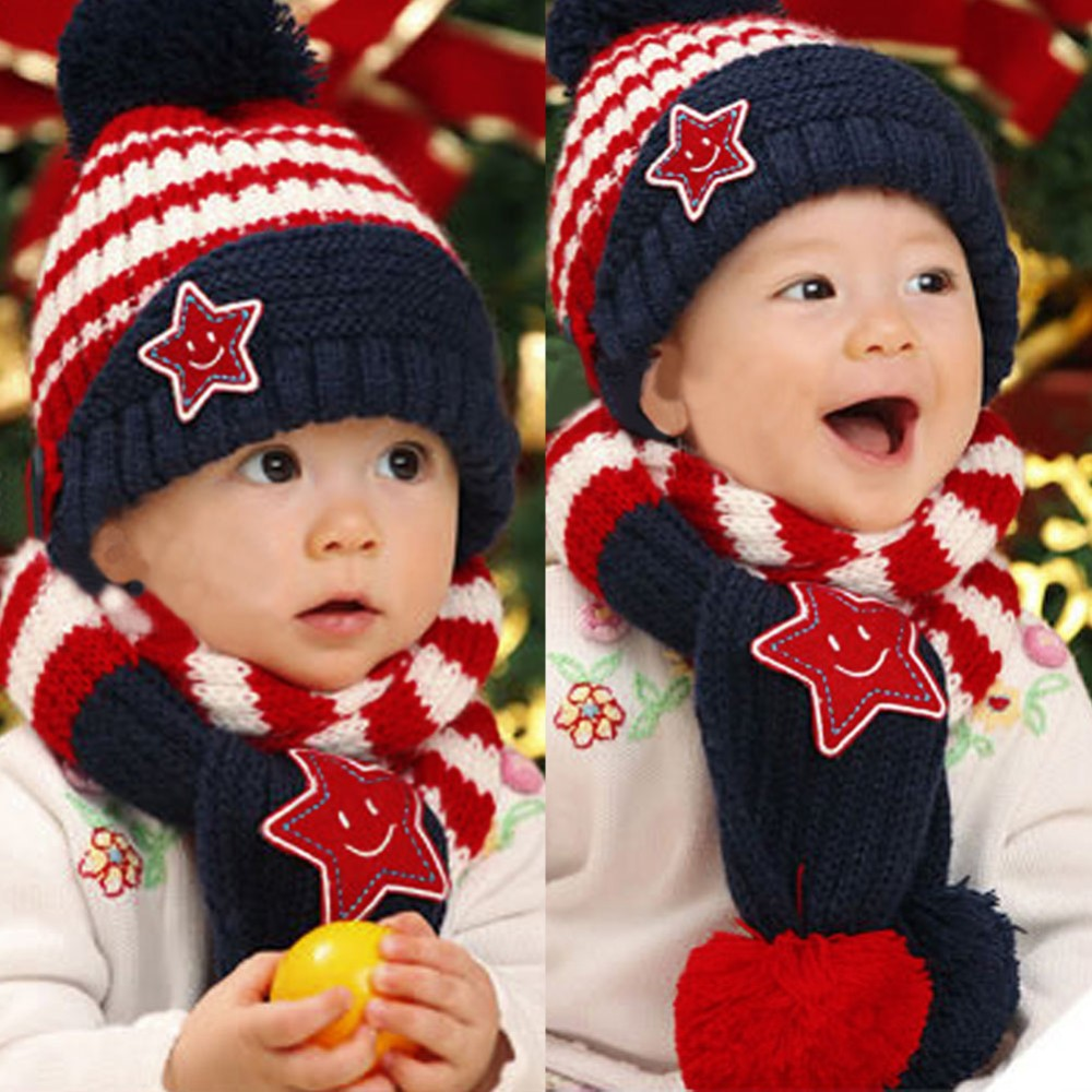 Star Baby Skullies & Beanies Scarf Hat Set