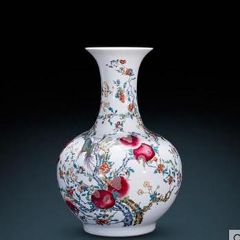 Ceramics antique imitation Qianlong gold glitter vase Chinese style living room decoration ornaments large furnishings vase