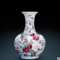 Керамика Античная имитация Цяньлун золотой блеск ваза китайский стиль гостиная украшения большой мебели