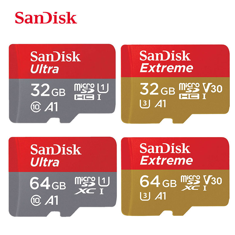 SanDisk Micro SD Memory Card 256GB 128GB 64GB 32GB 16GB Micro SD Card SDHC/SDXC UHS-I 98MB/s-100MB/s TF Cards Support 4K UHD