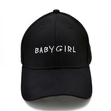 BABYGIRL Embroidery baseball cap Cotton hip-hop Cap Fashion Hats For Men & Women Dad Hat Black