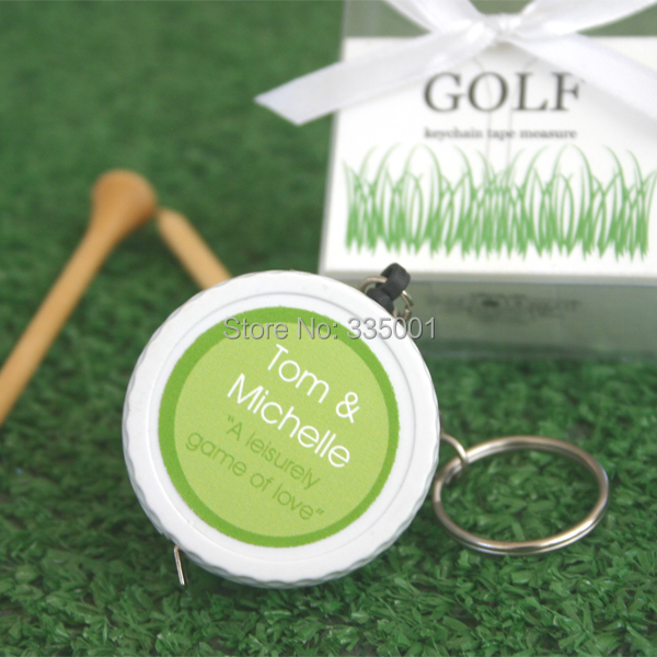 baby shower favor gift and giveaways for guest--A Leisurely Game of Love Golf Ball Tape Measure wedding party favor 100pcs/lot
