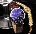 Yazole marca 312 mulheres pulseira de couro relógio de quartzo moda simples pequeno dial magro senhoras relógios de pulso 2017 novo frete grátis