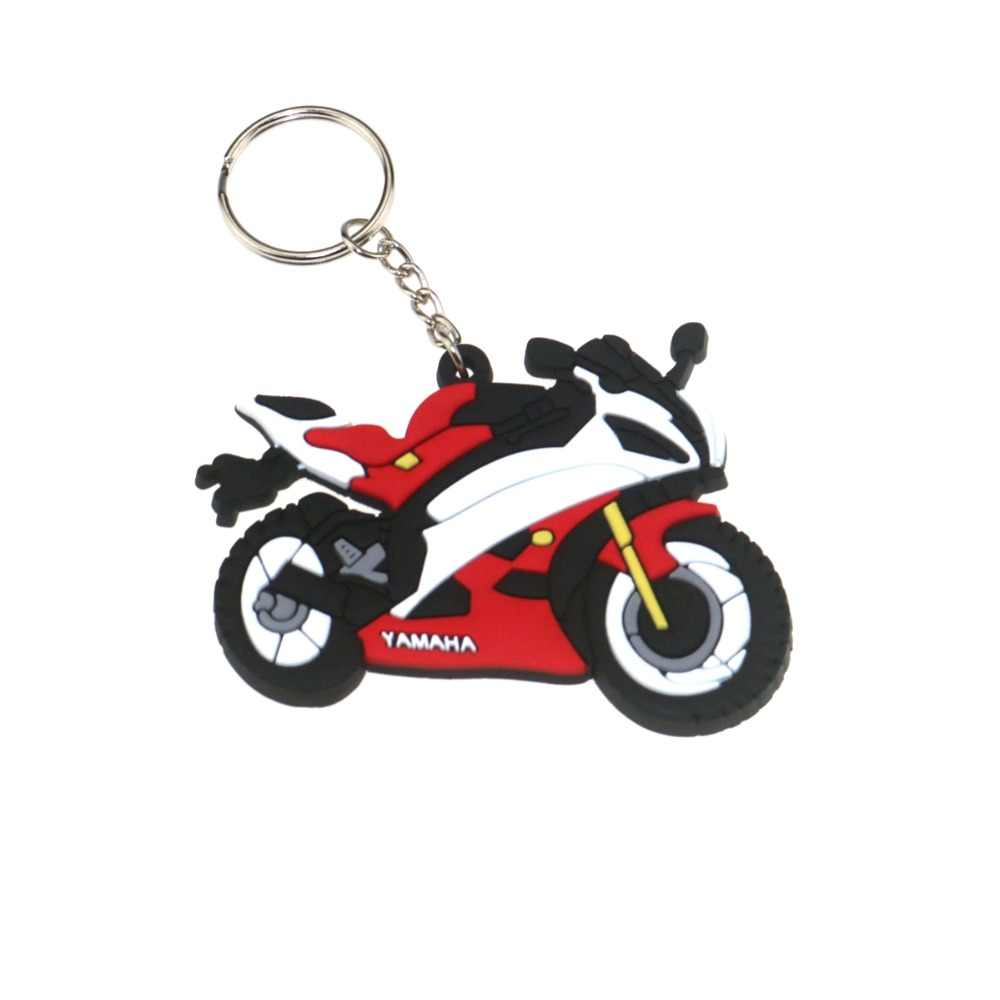 3D Motorcycle Accessories Motorcycle KeyChain Rubber Motorcycle Key Chain For YAMAHA R6 Locomotive model