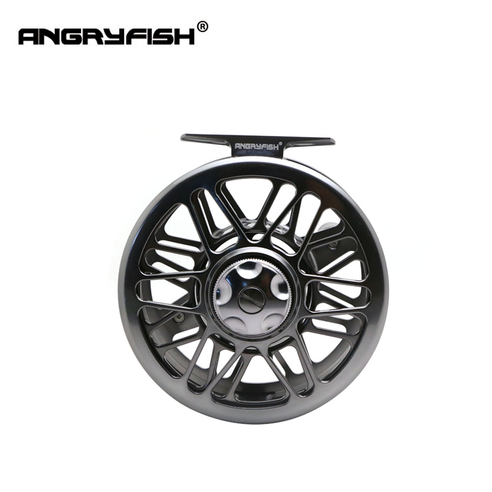ANGRYFISH Full Metal FR5/6 Fly Fishing Reel 2+1BB Aluminum Alloy Casting Fly Reel Fishing Reel aluminum alloy fly fishing reel silver 0 30mm 200m