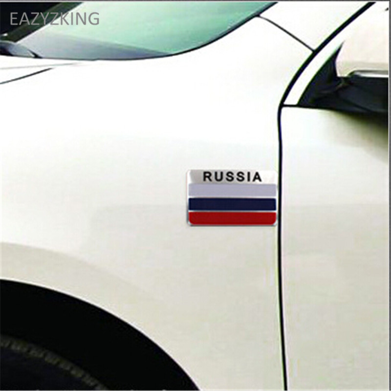 EAZYZKING Car-Styling National Flag Stickers for Ford Focus Fusion Escort Kuga Ecosport Fiesta Falcon Mondeo Taurus EVEREST