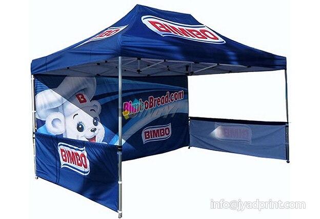 Tente pliante en aluminium de Gazebo de salon commercial extérieur, chapiteau en aluminium de tente d'événement avec l'impression polychrome votre logo et graphique