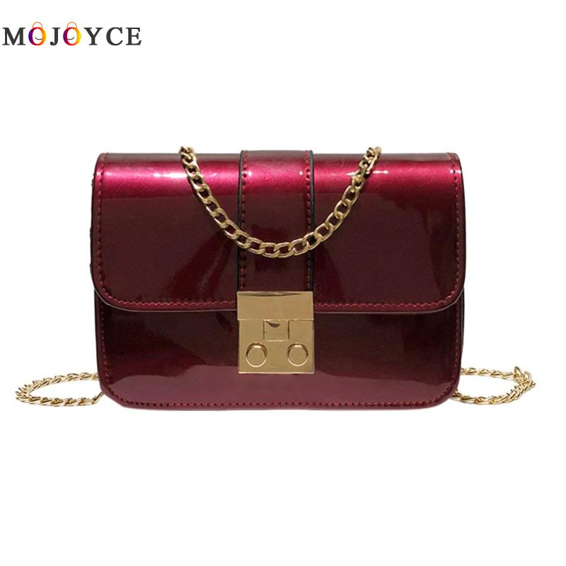 Brands Women Messenger Bags Mini Patent Leather Fashion Girls Black Bags Crossbody Bag Lady Shoulder Bag Bolsa Feminina