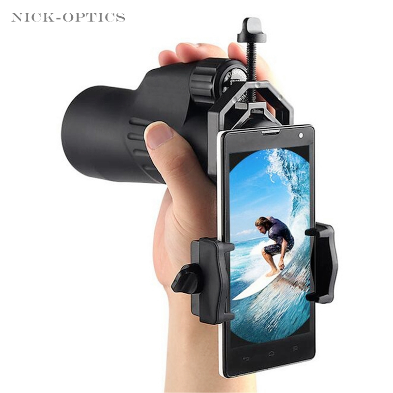 Adapter-Holder Binocular-Adapter Scopes Astronomical Mobile-Phone-Clip Universal Spotting