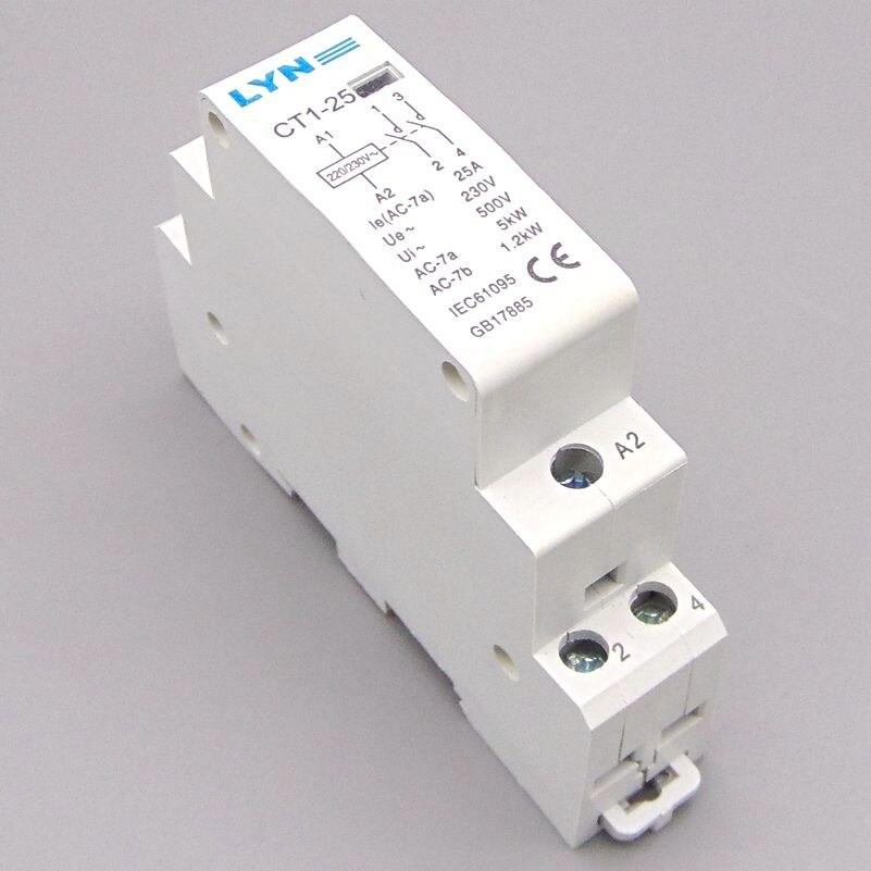 CT1-25 2 P 25A ménage AC contacteur/Ménage contacter module 2NO LYN