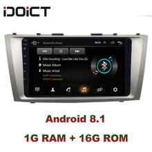 IDOICT Android 8.1 Auto Lettore DVD GPS di Navigazione Multimediale Per Toyota Camry Radio 2006-2011 wifi BT built-in DSP