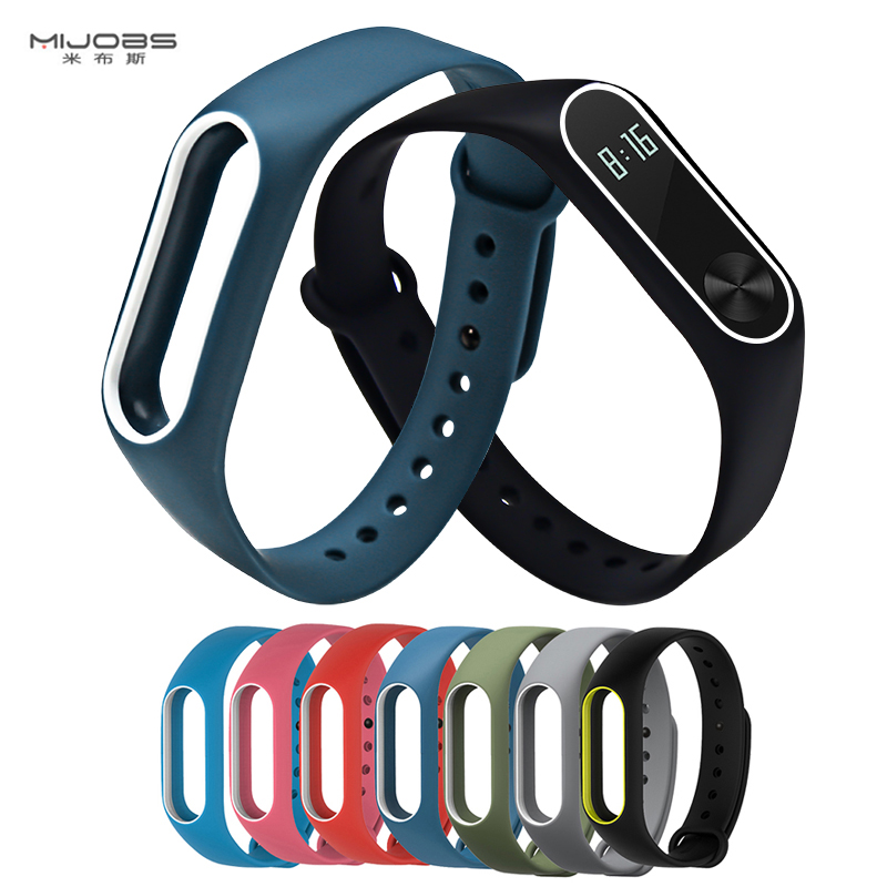 New Mjobs Miband 2 Strap Double Color Replacement Pulseira