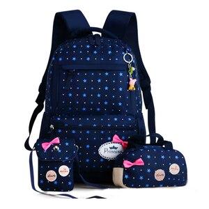 Image 2 - ZIRANYU star printing children backpacks For Teenagers girls Lightweight waterproof school bags child orthopedics schoolbags
