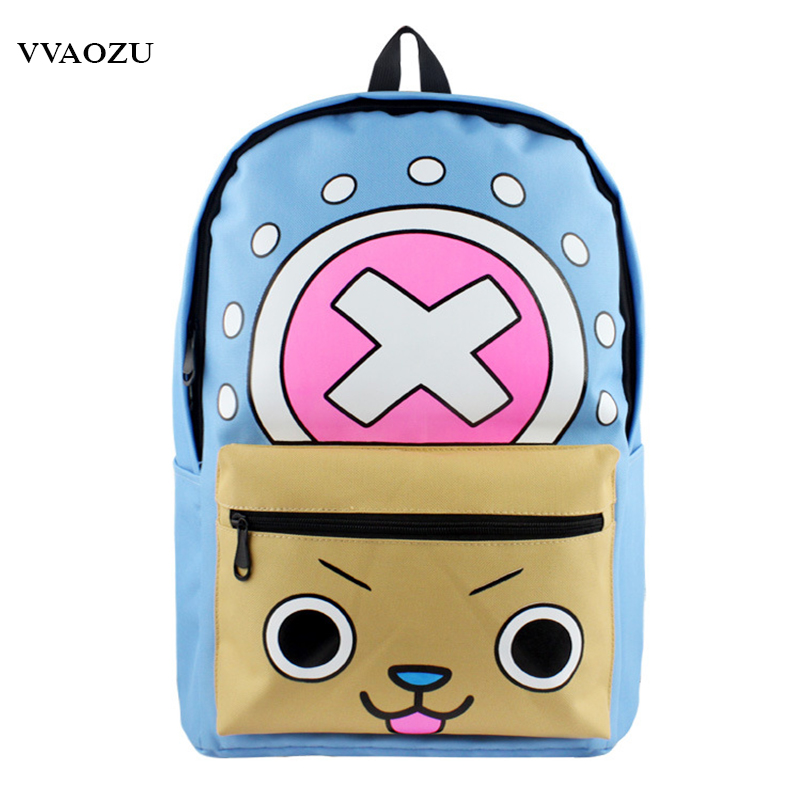 Japn Anime One Piece Chopper Cosplay School Bags Bookbag Teenagers Backpack Men Women Shoulder Bag Mochila Bolsas Escolar free ship gou matsuoka long wine red women style anime cosplay wig one ponytail 370f