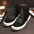 Pidepie High Quality Genuine Leather Martin Boots Mens Lace-up High-top Casual Shoes Fashion Coconut Shoes Men Boots Ankle Botas