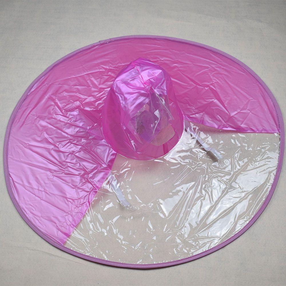 2018 New Simple Design Plastic Rain Umbrella Cap Outdoor
