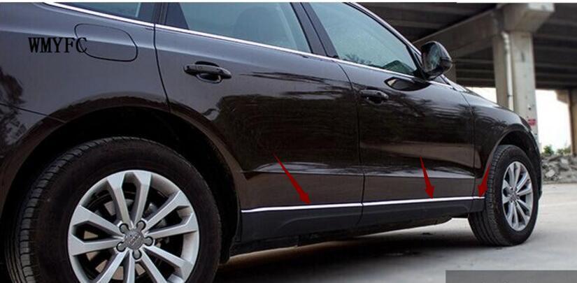 Боковая дверь из нержавеющей стали, декоративный молдинг, декоративная накладка, 6 шт., подходит для Audi Q5 2012 2013 2014 2015 2016 6 шт.