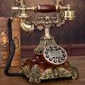 Europa estilo teléfono vintage teléfono de la casa teléfono antiguo de resina resina teléfono teléfonos retro clarete vendimia