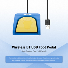 One Key Customized Keyboard Mouse Wireless USB BT Foot Pedal Single Switch Video Game HID Control for  PC Mac Tablet Smartphone