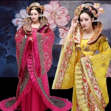 Top Grade Chinese imperial queen Costume of han and tang dynasty concubine fairy photography stage women dance costume trailing top grade chinese imperial queen costume of han and tang dynasty concubine fairy photography stage women dance costume trailing