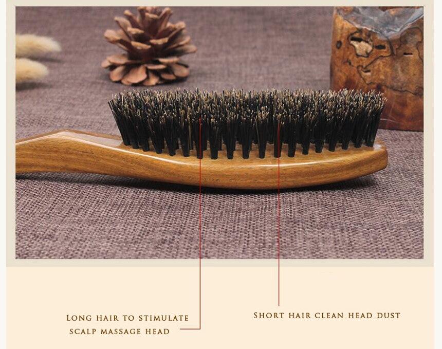 cabeça natural selvagem cerdas de javali escova