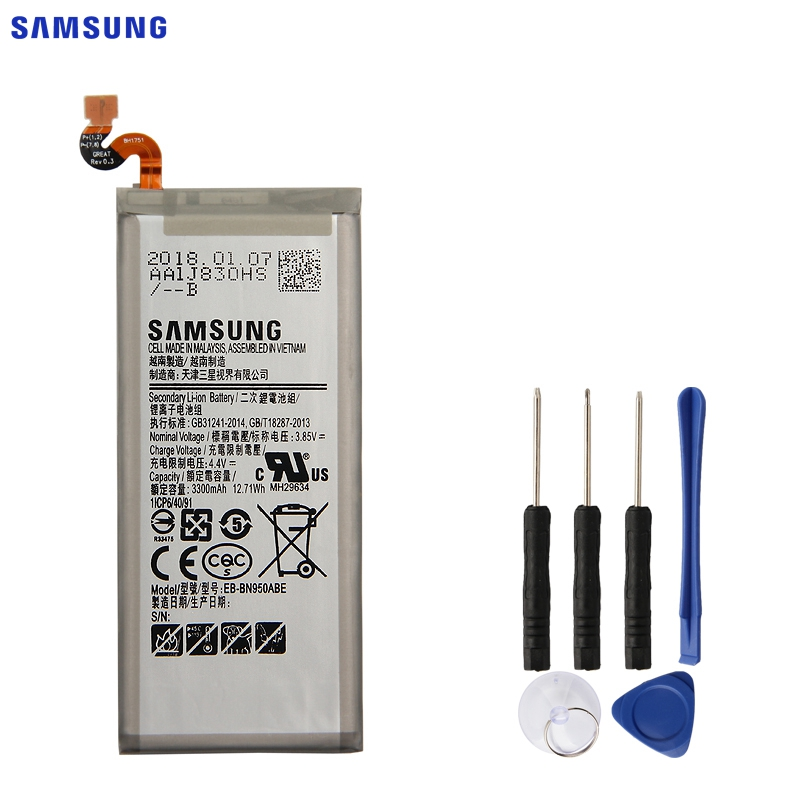 SAMSUNG Original Battery EB-BN950ABE EB-BN950ABA For Samsung GALAXY Note 8 Note8 N9500 N9508 SM-N950F Project Baikal 3300mAh