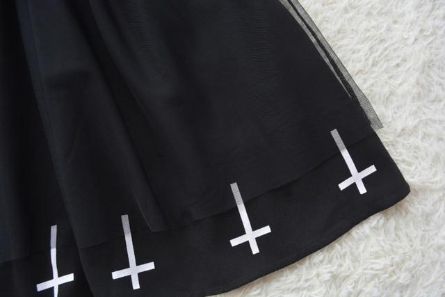 Harajuku Street Fashion Cross Cosplay Female Dress Japanese Soft Sister Gothic Style Star Tulle Dress Lolita Cute Girl Dresses 3