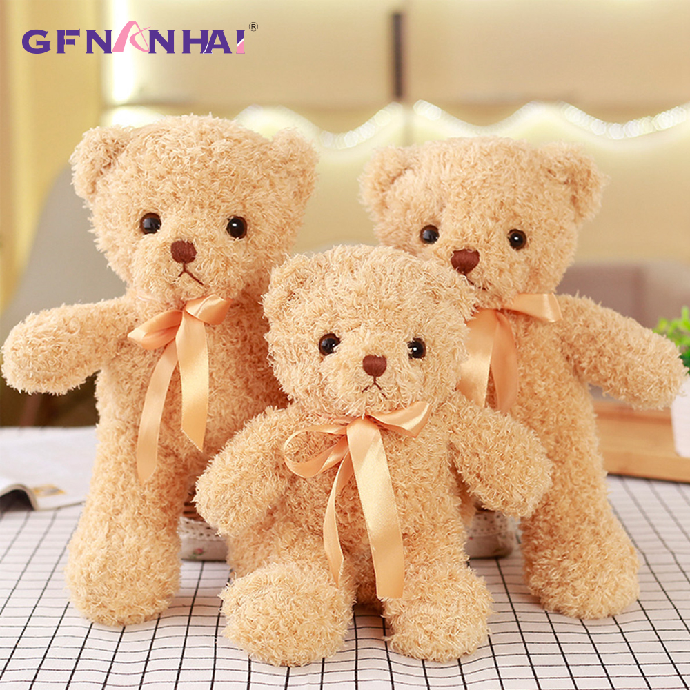 1pc 30CM Kawaii Teddy Bear Plush Toy Cute Stuffed Soft Animal Bear Dolls For Kids Baby Children Birthday Gift Valentine's Gift