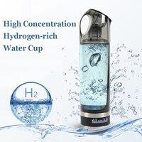 USB Rechargeable Hydrogen Rich Water Generator Lonizer Bottle Alkaline Energy Portable Anti Aging Hydrogen Rich Water Bottle