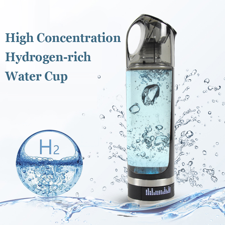 USB Rechargeable Hydrogen Rich Water Generator Lonizer Bottle Alkaline Energy Portable Anti Aging Hydrogen Rich Water Bottle image