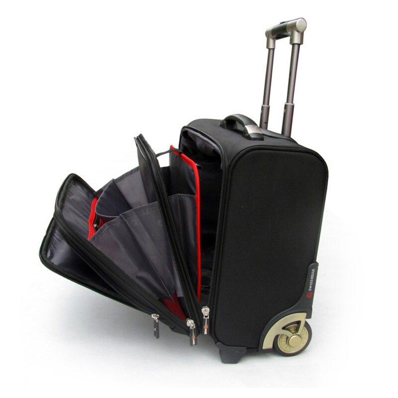 Letrend 고급 롤링 수하물 캐스터 남자 비즈니스 옥스포드 가방 바퀴 18 인치 운반 트롤리 여행 가방 노트북 가방-에서캐리 온부터 수화물 & 가방 의  그룹 1