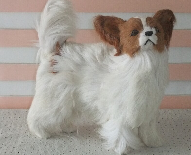 new simulation chihuahua dog toy lifelike standing chihuahua dog doll about 27x27cm
