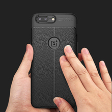 Matte Frosted Soft TPU Case For Oneplus 7 pro 6T 5T 3T Leather Lichee Texture Phone Cover