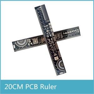 Image 1 - 10 шт. многофункциональная линейка PCB EDA измерительный инструмент Высокая точность транспортир 20 см черный